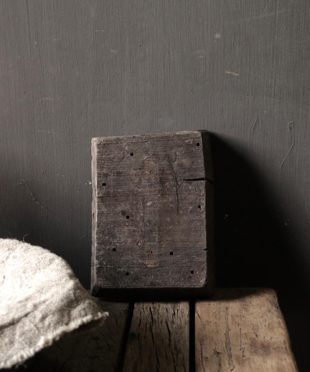 Alter hölzerner indischer Batikstempel-3