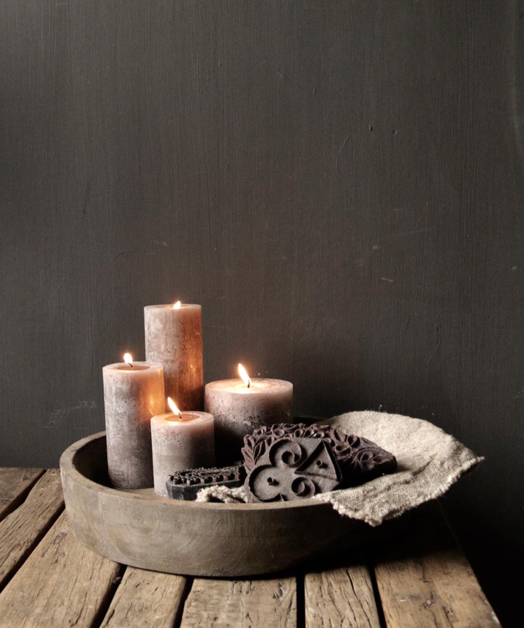 Oude houten Indische batik stempel-1