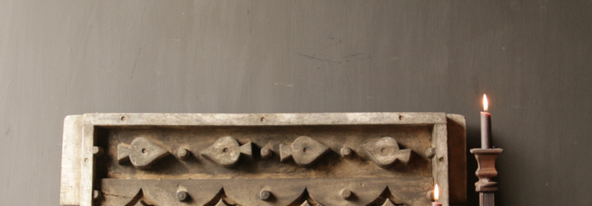 Beautiful Old wooden window mold