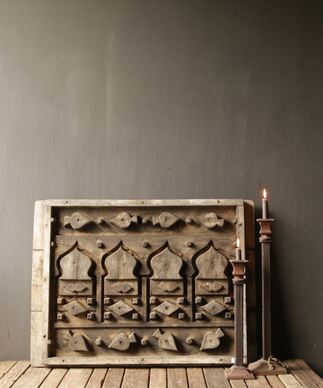 Beautiful Old wooden window mold-1