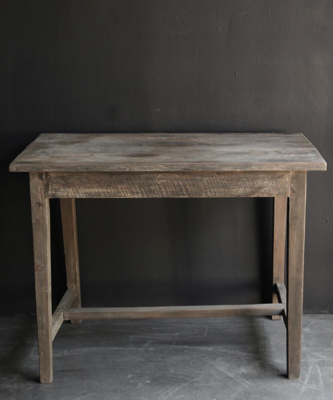 Oud Authentiek stoer klein driftwood  houten tafeltje-3