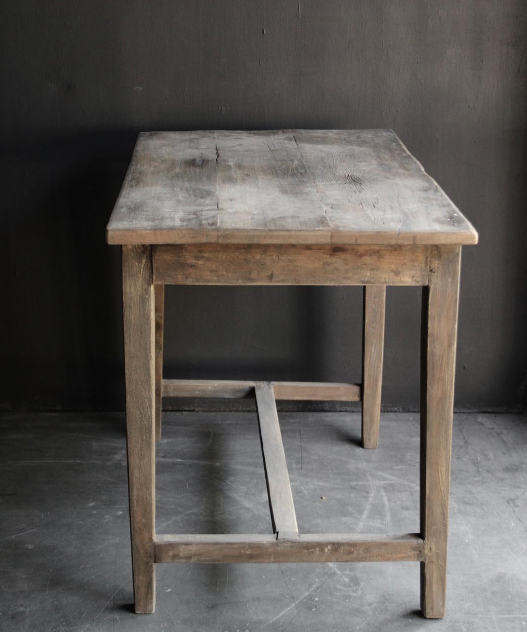 Oud Authentiek stoer klein driftwood  houten tafeltje-4