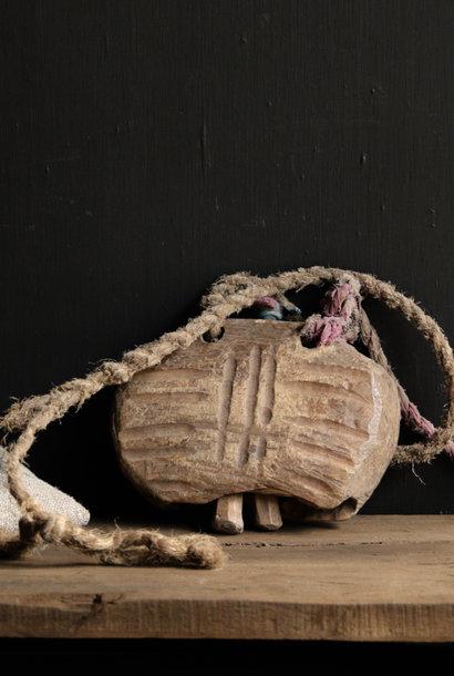 Authentic unique wooden cow bell