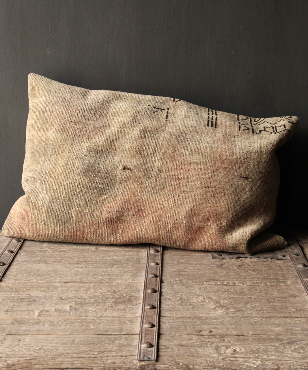 Beautiful Unique cushion from old carpet-1