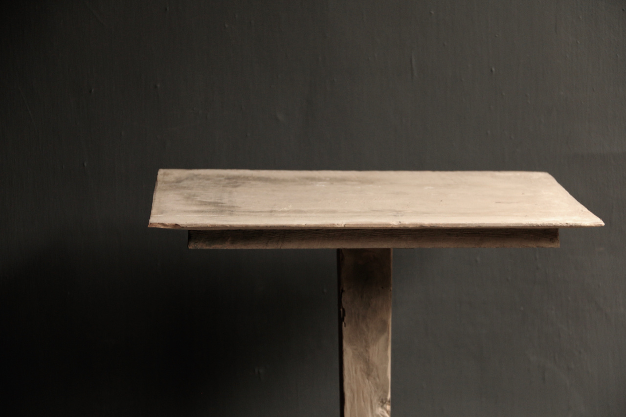 Authentic high wooden table-4
