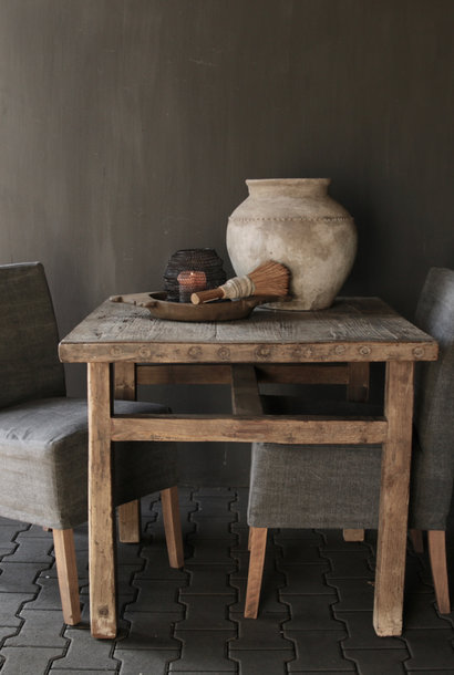 Authentic old double dining room table