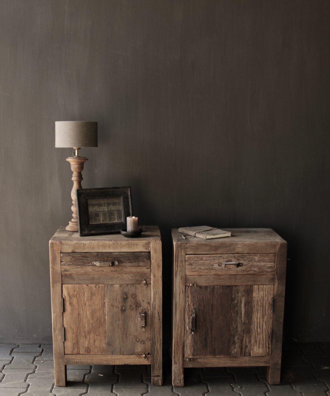 Old driftwood wooden cabinet or bedside table-1