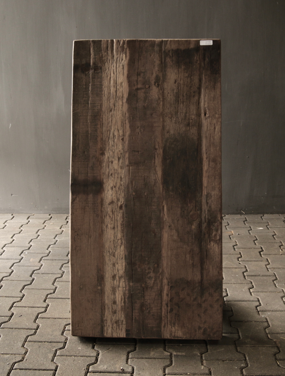 Old wooden driftwood coffee table with iron base-7