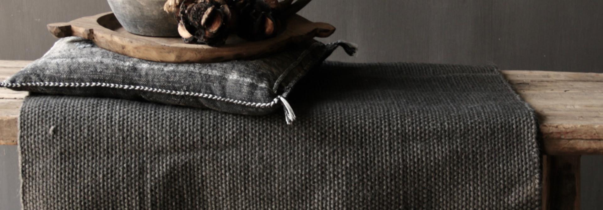 Zwart Jute Vloerkleed  80x160cm