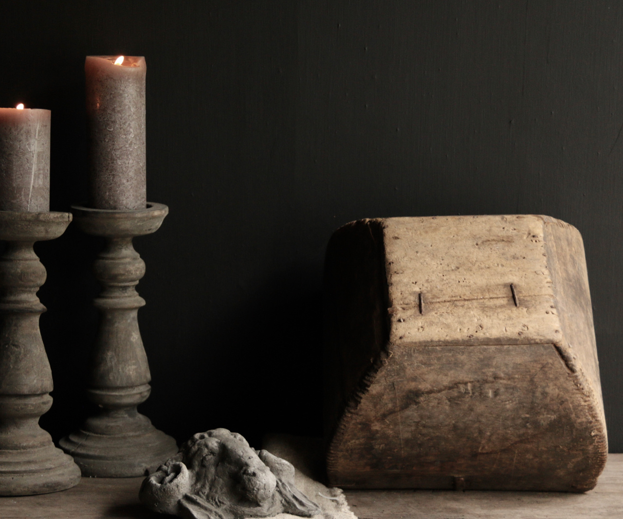 Oude houten zaai/Rijst bak-7