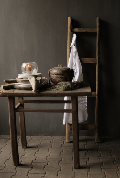 Old Wooden weathered Sidetable / Wall table