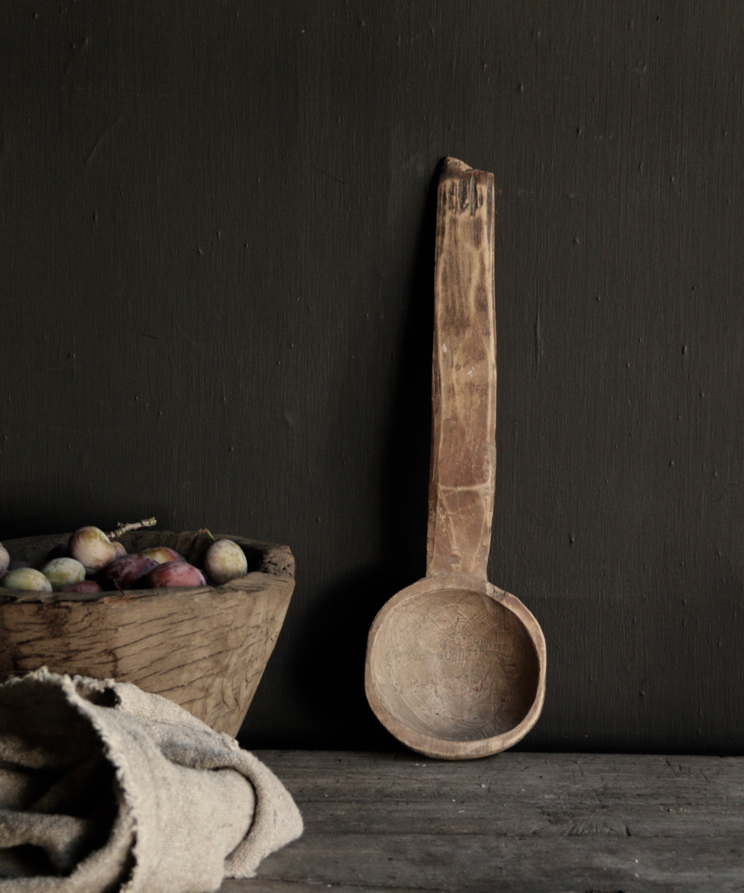 Old Wooden Nepalese spoon-3