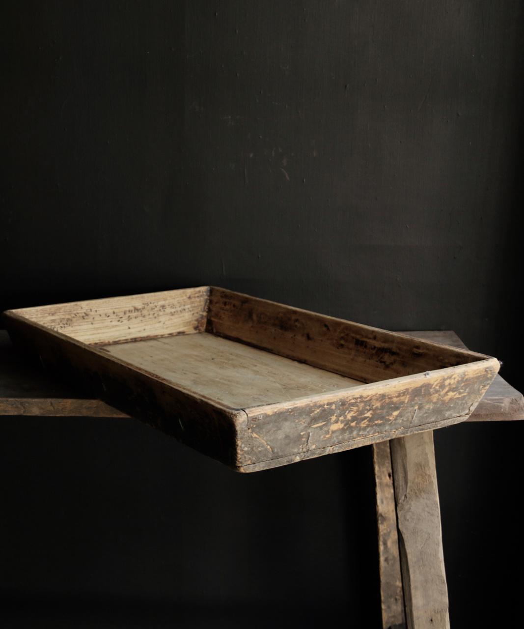 Authentiek Oud houten dienblad-3