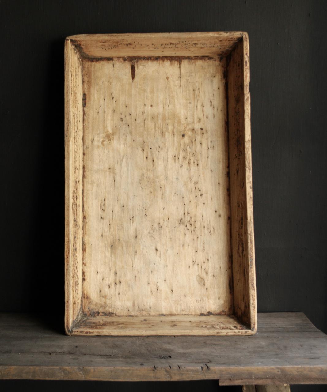 Authentiek Oud houten dienblad-5