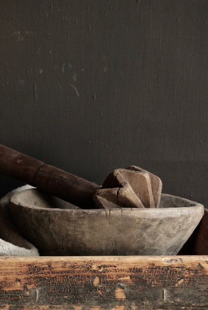 Old wooden Nepalese Pestle