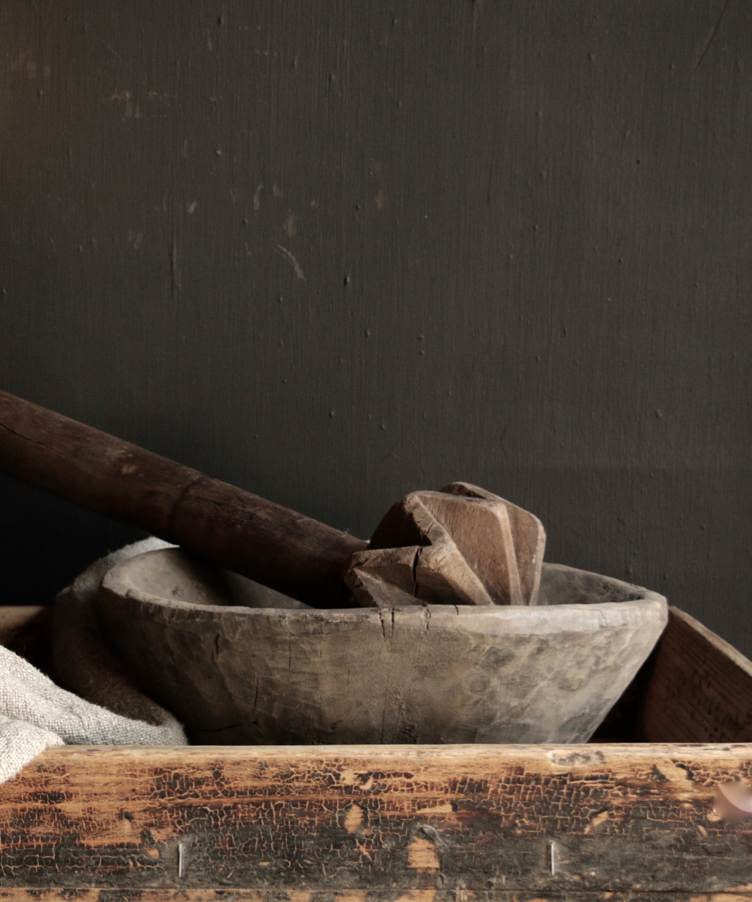 Old wooden Nepalese Pestle-1