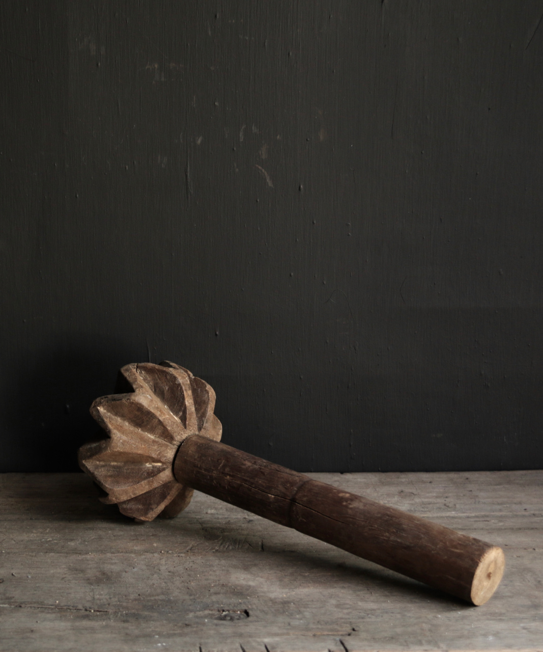 Old wooden Nepalese Pestle-3