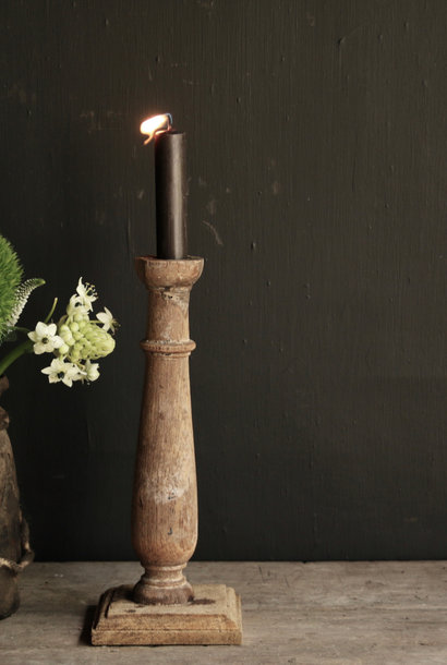Old wooden Nepalese candlestick - Copy