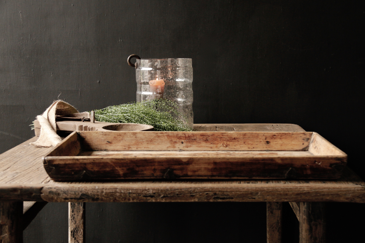 Authentic Old wooden tray-2