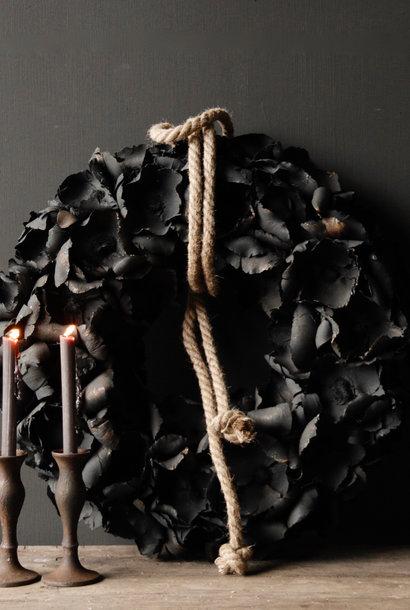 Tough palm Fruit wreath Black