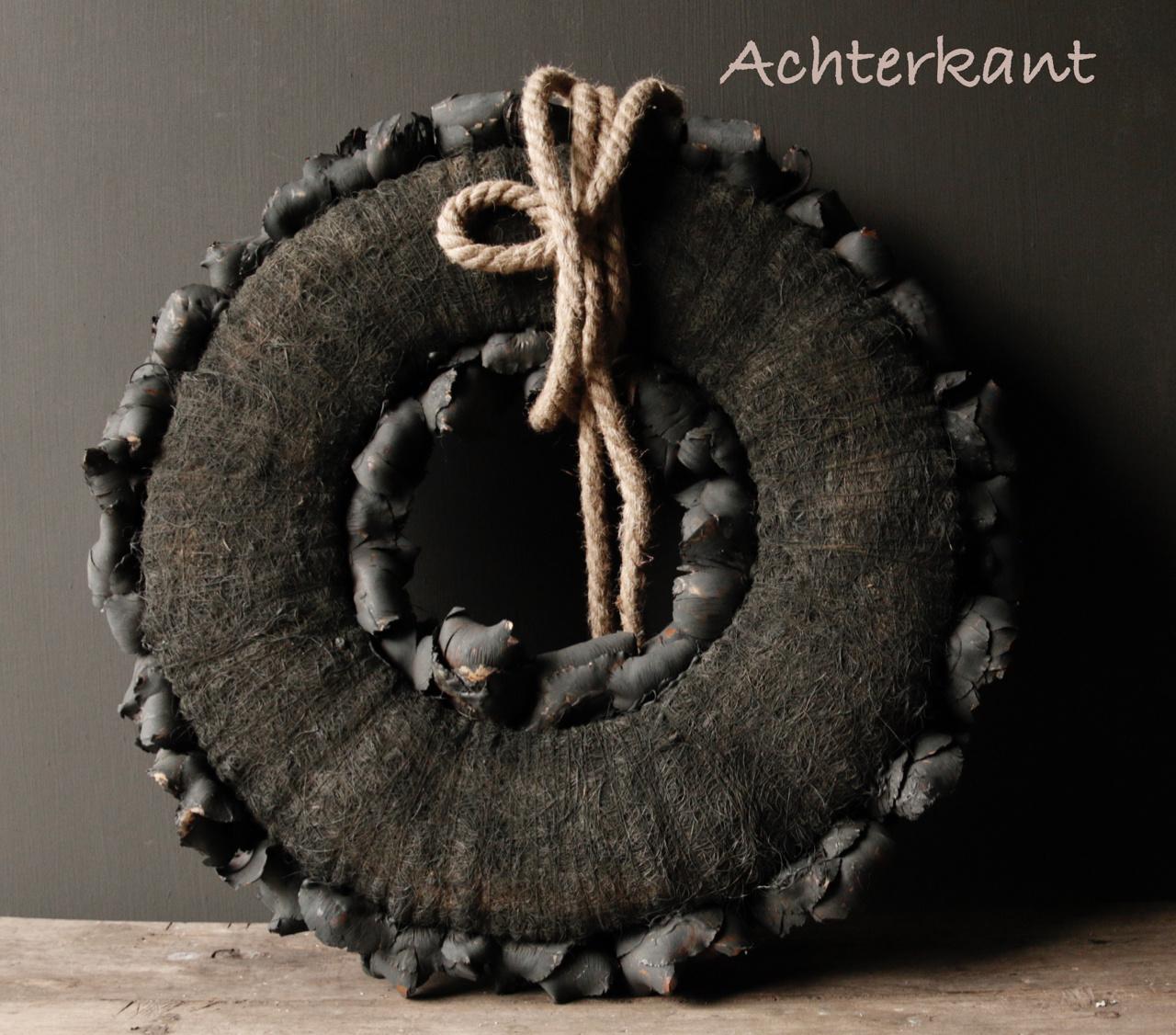 Stoere palm Fruit krans  Zwart-3