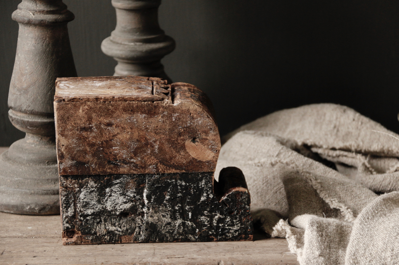 Oude nepaleese houten spice box-2