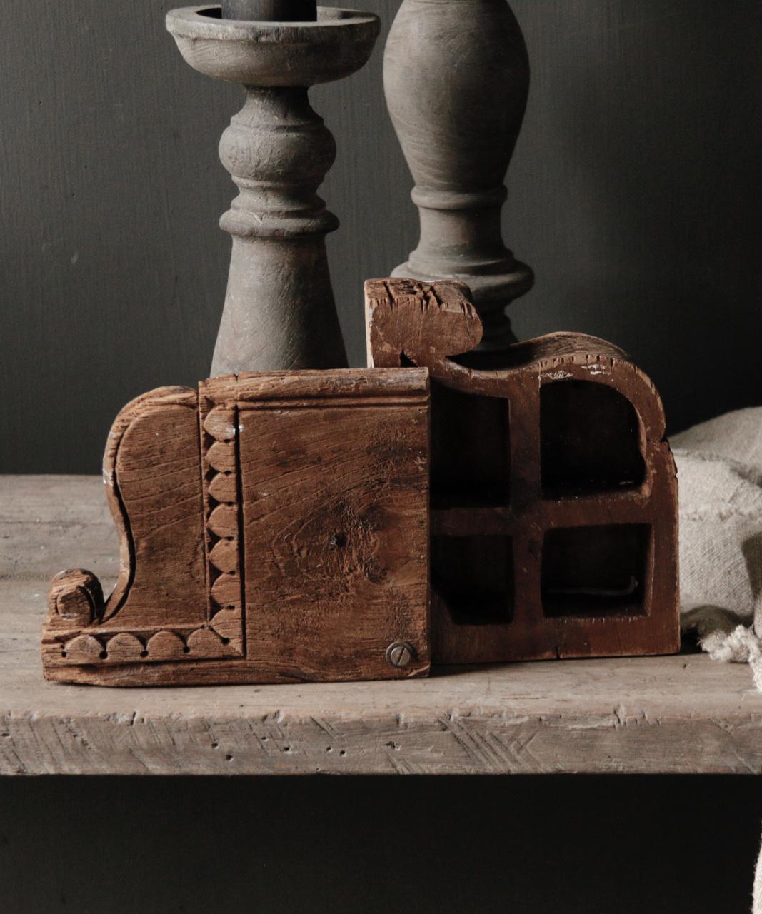 Oude nepaleese houten spice box-3