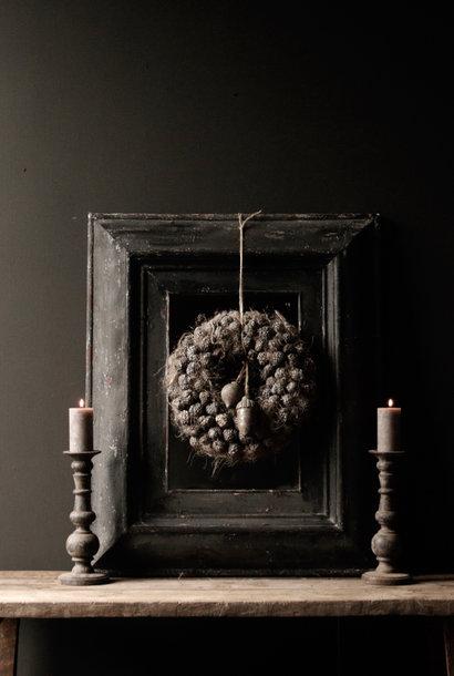 Stoer Zwart houten spiegel