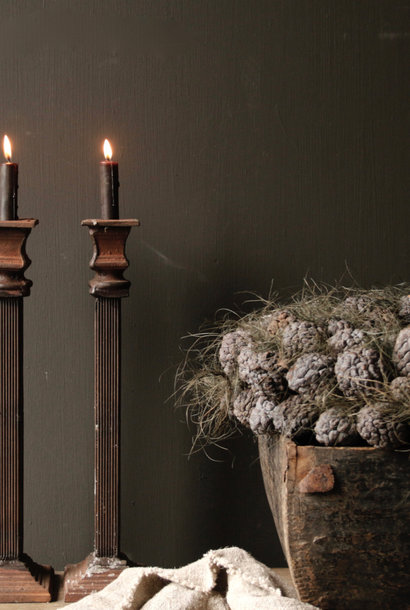 Cast iron candlestick from