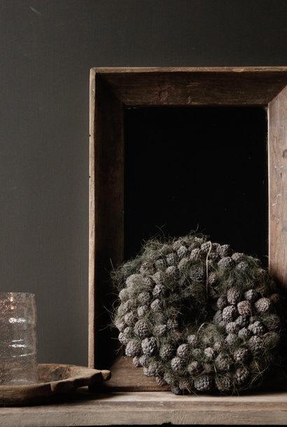 Prachtige Stoere Spiegel met houten lijst