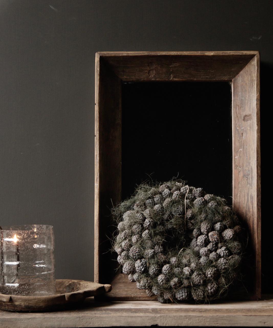 Schöner starker Spiegel mit Holzrahmen-1