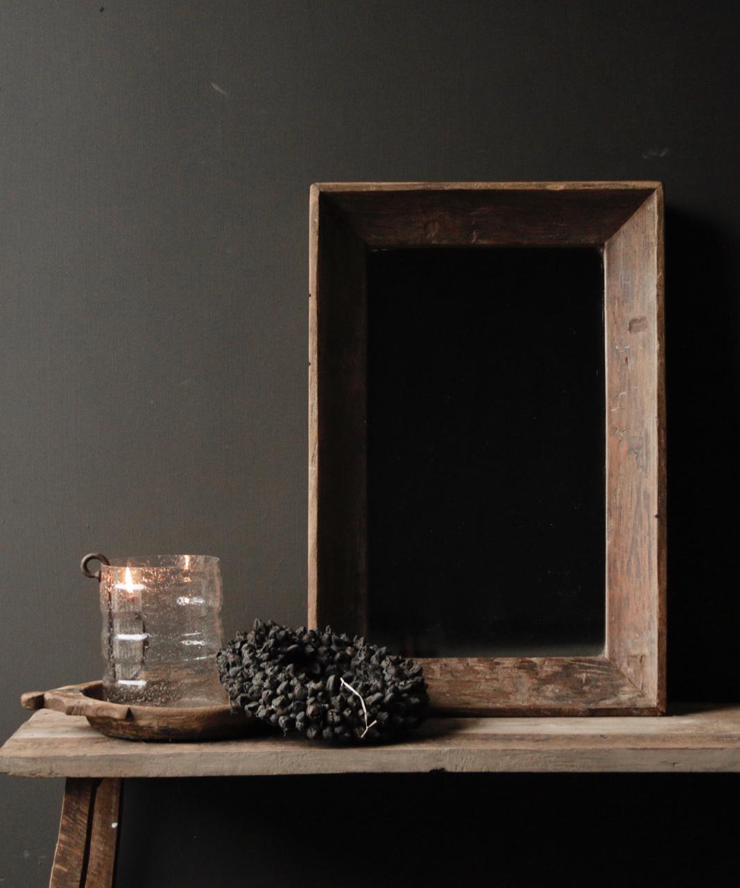 Schöner starker Spiegel mit Holzrahmen-2