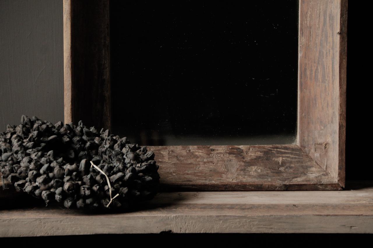 Schöner starker Spiegel mit Holzrahmen-5