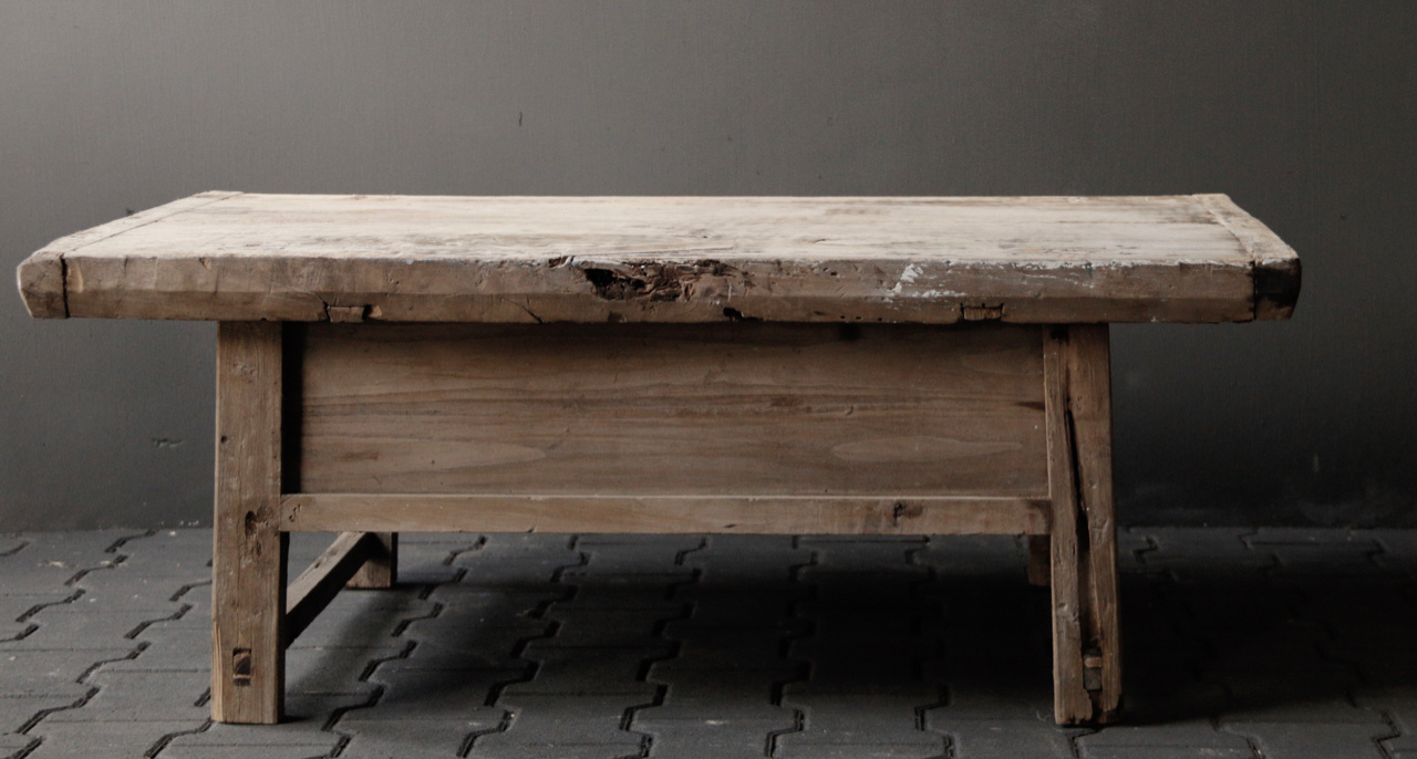 Old authentic wooden coffee table-3