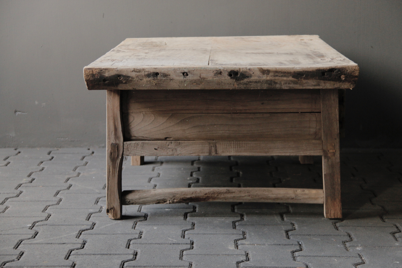 Old authentic wooden coffee table-5