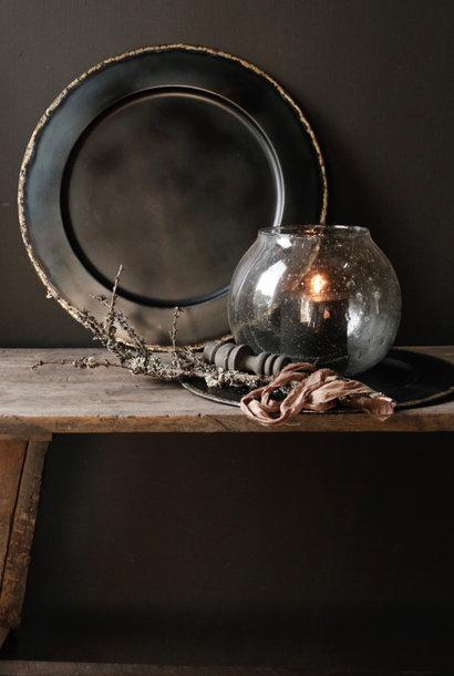 Metal plate Black / copper tin