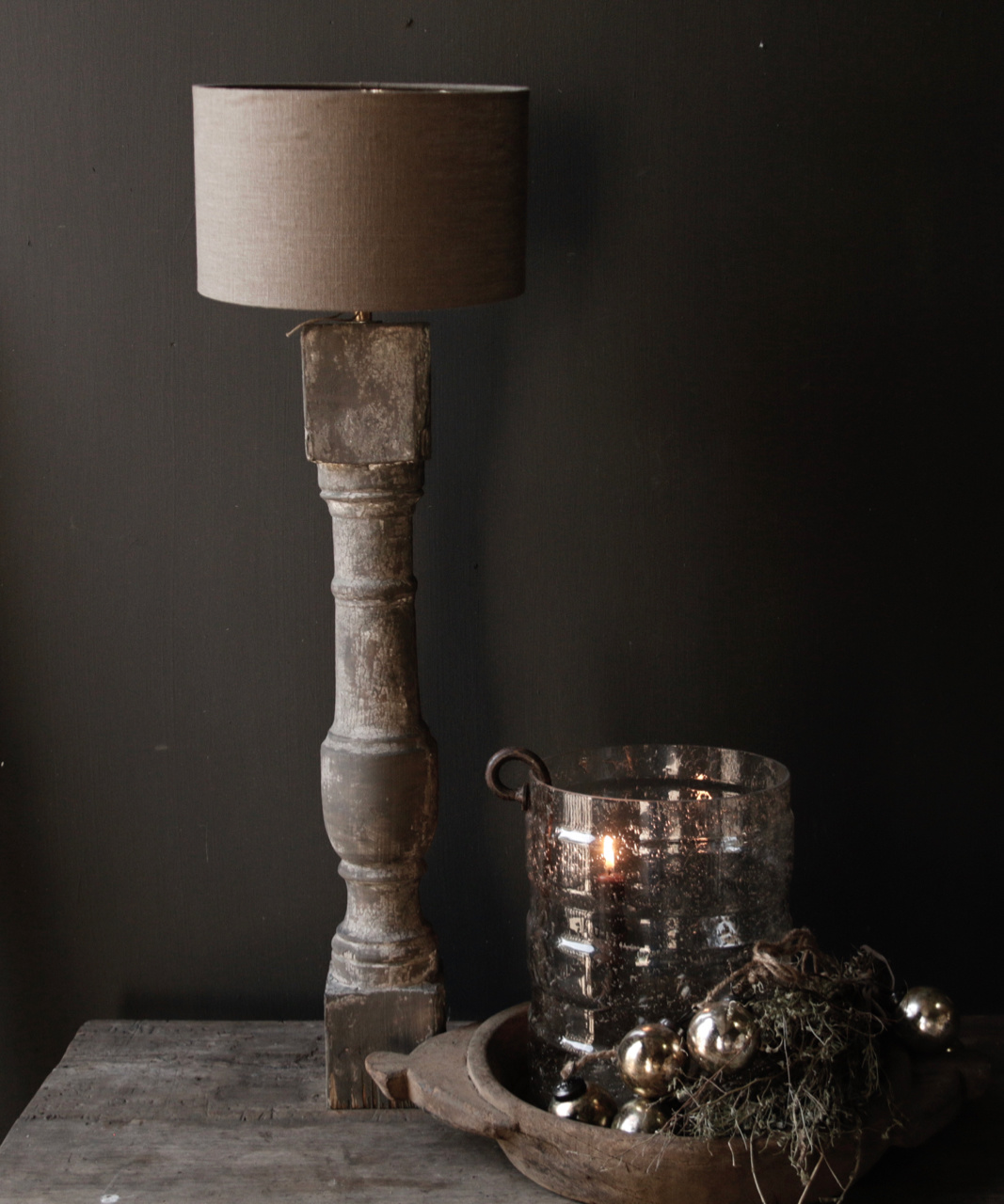 Beautiful Old Wooden lamp base from Authentic Baluster-1