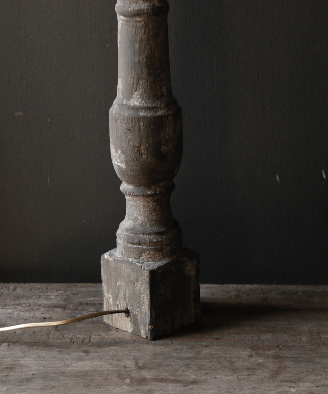 Beautiful Old Wooden lamp base from Authentic Baluster-4