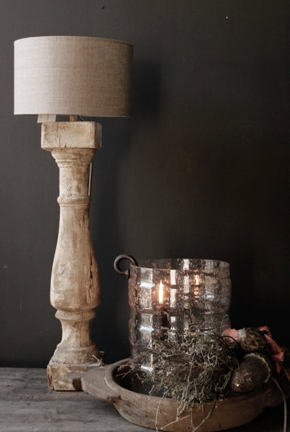 Beautiful Old Wooden Baluster lamp foot