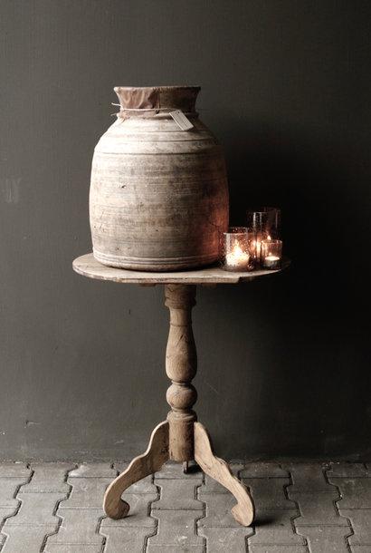 Ovaal houten Wijntafeltje