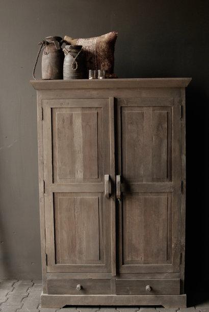 Prachtig Stoer Landelijk oud houten kast
