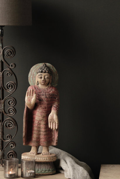 Uniek oud Houten Buddha