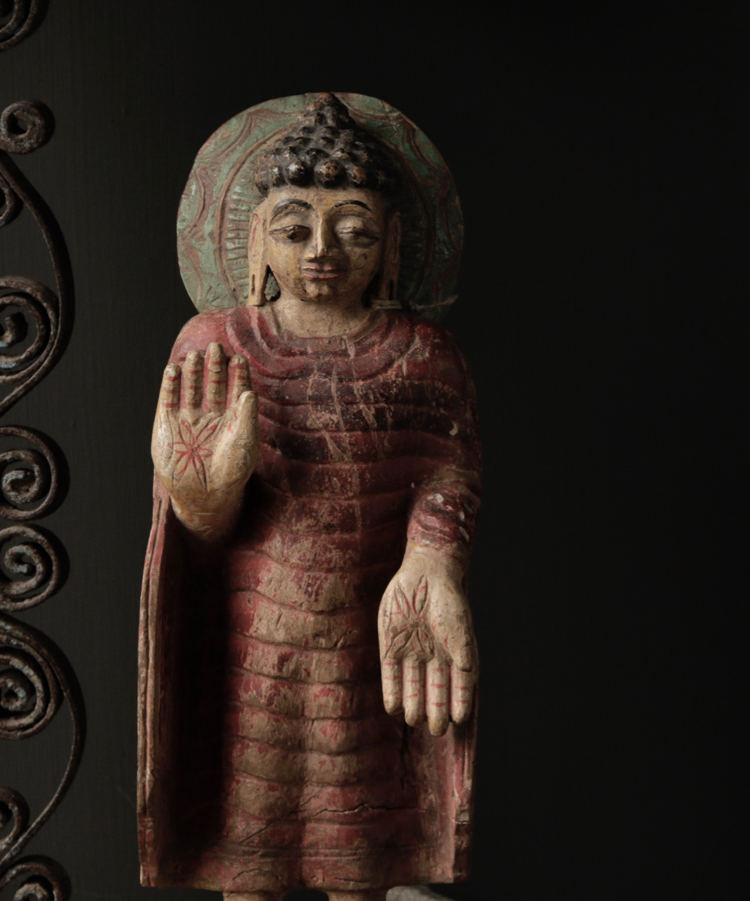 Unique old Wooden Buddha-2