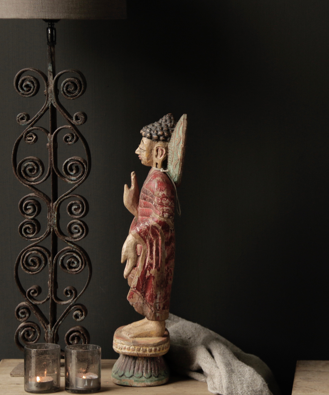 Unique old Wooden Buddha-3