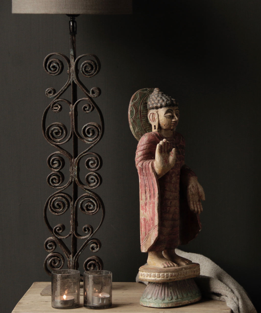 Unique old Wooden Buddha-4