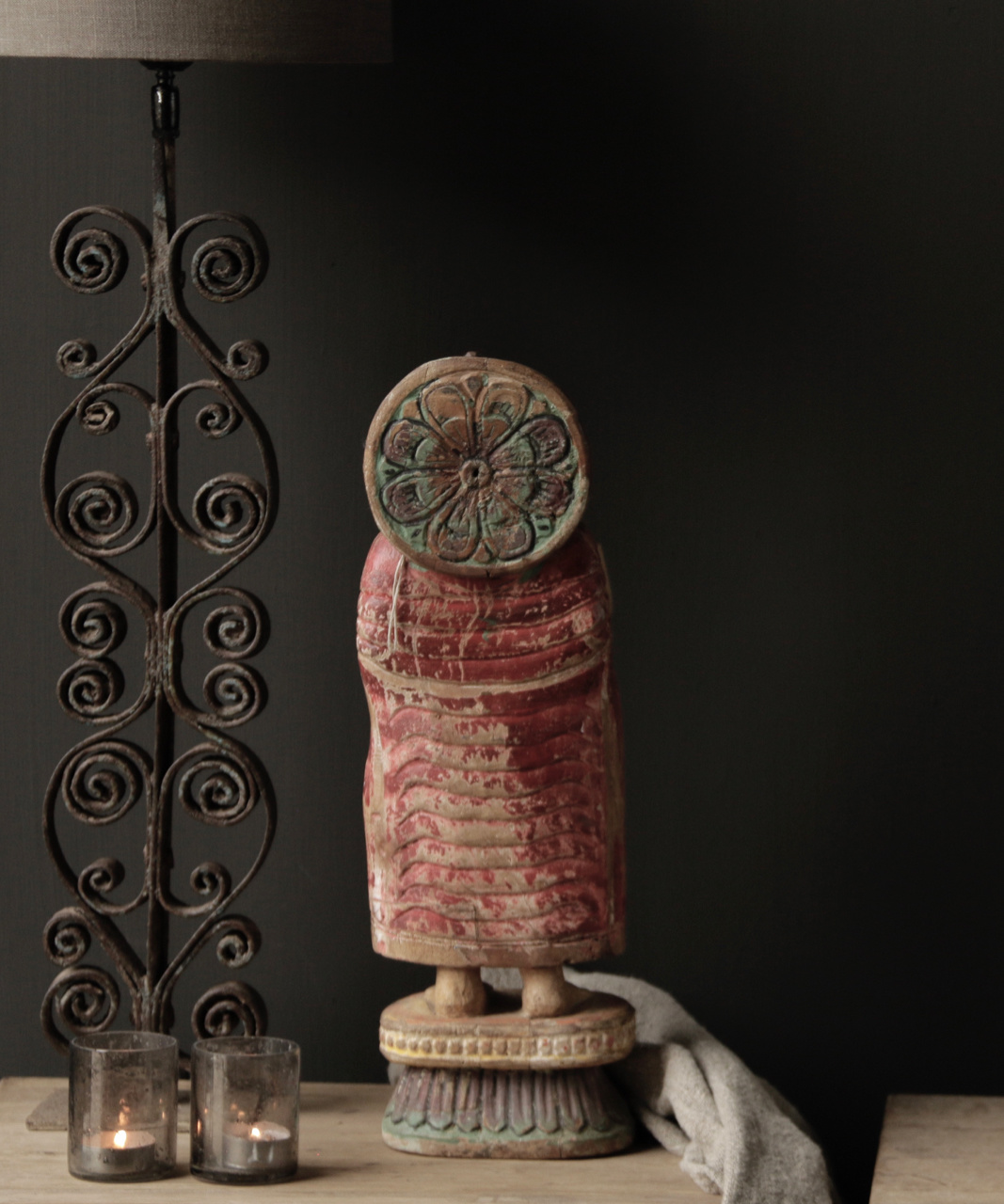 Unique old Wooden Buddha-5