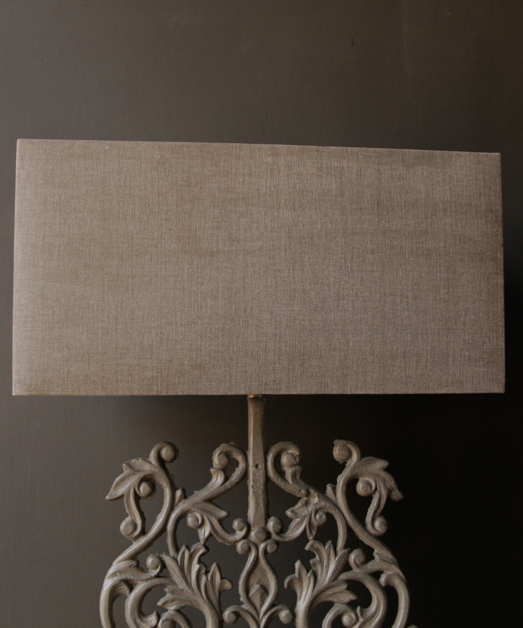 Rectangular linen lampshade-2