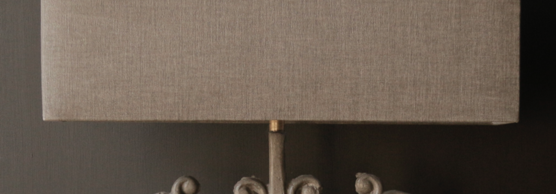 Rectangular linen lampshade
