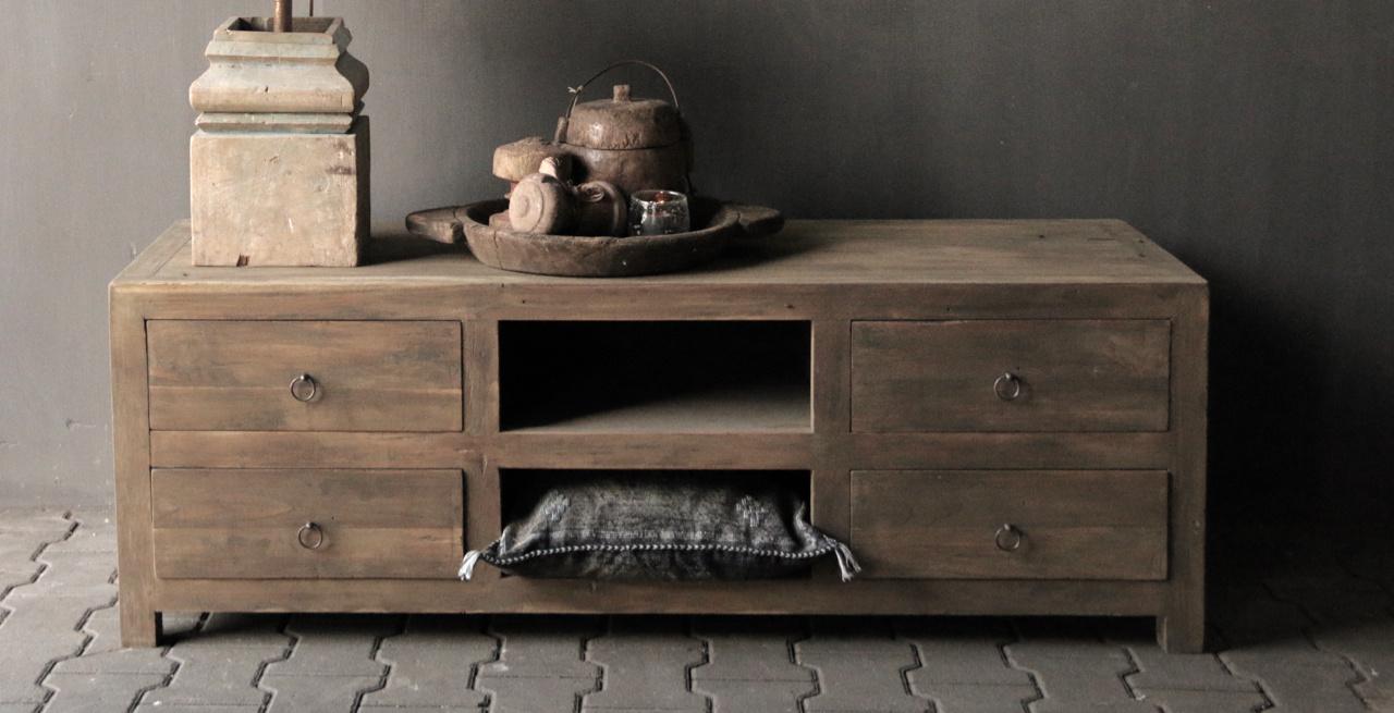 Tough TV Möbel / Sideboard aus altem Holz-2
