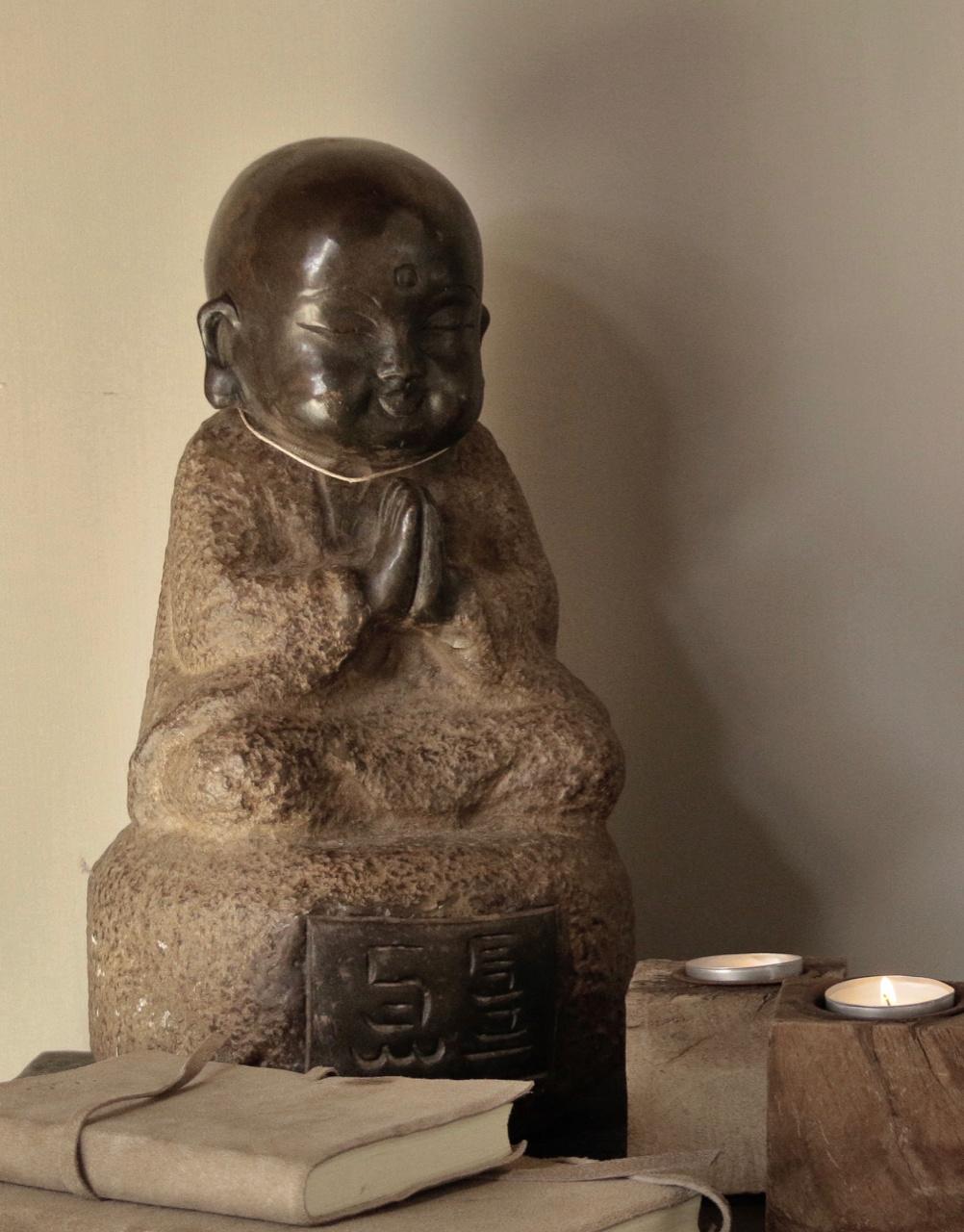Handmade Stone Monk-2